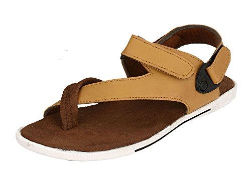 Fucasso Men's Synthetic Brown Tan Sandals-8UK