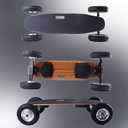 Skateboard off-Road Elettrico Longboard Top Speed 40 mph Max Range 15km 800W*2 Dual Motors Longboard...