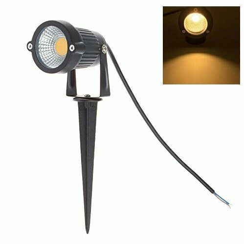 12V 24V Outdoor Waterproof Low Voltage Path Light with Spike Stand for Garden, Yard, Pathways, Lawn, Driveway Decorative Lighting (Warm White, 5 Watt)