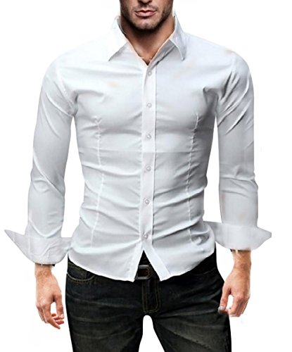 072696faa57aa Kayhan Homme Chemise Slim Fit Repassage facile, Coton, Manches ...