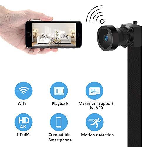 Supoggy Mini WIFI Hidden Spy Camera Telecamera Spia 【 HD 4K 】con Batteria Integrata da 750mAh Registrazione video e Rilevamento del Movimento