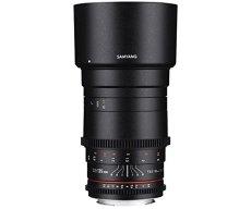 Samyang F1312210101 - Objetivo para vídeo VDSLR para Fuji X (distancia focal fija 135mm, apertura T2.2-22 ED UMC, diámetro filtro: 77mm), negro