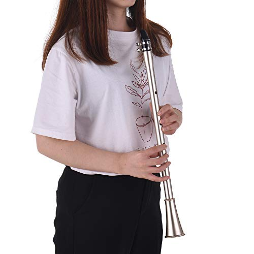 KKmoon Bb Key Mini Simple Clarinet Sax Compact Clarinet-Saxophone ABS Material Musical Wind Instrument for Beginners with Carry Bag