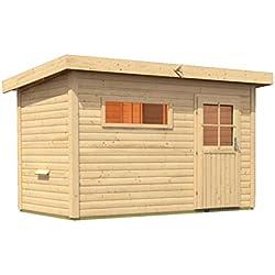 Sauna für den Außenbereich Rauma 1 mit Vorraum 337cm x 196cm x 228cm