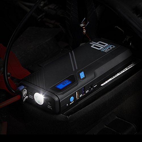 dbpower d marreur de voiture portable 1200a en courant de cr te pour moteur essence 6 5l. Black Bedroom Furniture Sets. Home Design Ideas