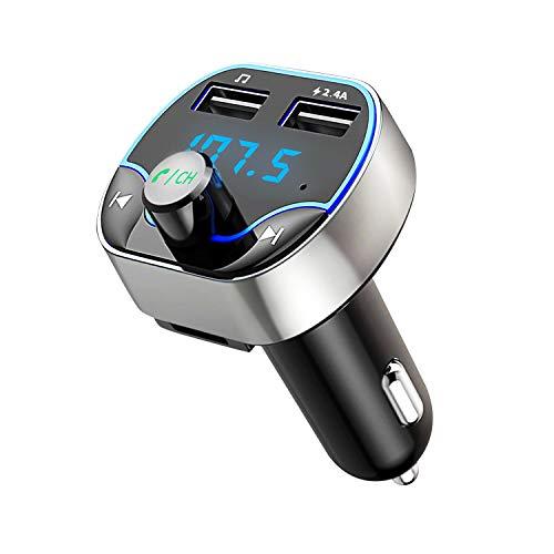 Bluetooth FM Transmitter, Hotchy Bluetooth Auto Radio Transmitter Freisprecheinrichtung, Auto Adapter mit Dual USB Anschlüsse Lesen Mikro-SD-Karte for iOS und Android Bluetooth-Geräte