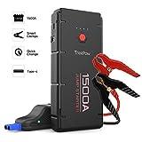 ABOX TrekPow Arrancador de Baterías de Coche G22, 1500A Arrancador de Coches con USB de 3.0 Puertos de Carga Rápida - para 6.5L de Diesel o 8.0L de Gasolina