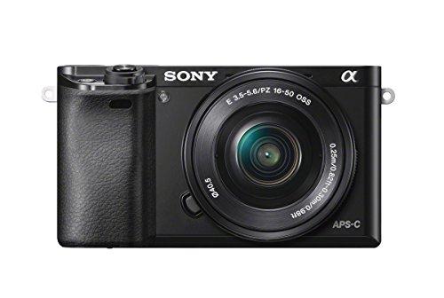"""Sony A6000 - Cámara EVIL de 24 MP (pantalla de 3"""", estabilizador óptico, vídeo Full HD, WiFi), negro - Kit cuerpo con objetivo 16 - 50 mm"""
