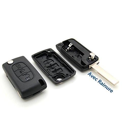 Cover chiave telecomando plip pulsante Phare Citroen C4Picasso con scanalatura