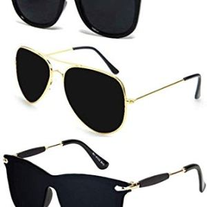 Sheomy New Arrival Special Collection of Festive Seasons Black Color Unisex UV Protected Avaitors, Aviators and s Sunglasses Combo Ideal for Boys, Girls, Men, Women Way fairs 2  Sheomy New Arrival Special Collection of Festive Seasons Black Color Unisex UV Protected Avaitors, Aviators and s Sunglasses Combo Ideal for Boys, Girls, Men, Women Way fairs 41Ob50XlImL