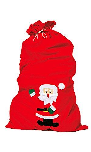 Weihnachtsmannsack 858.0196 Nikolaussack rot ca.90x60cm a.Filz