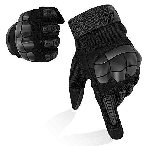 Guanti da armatura LKY, Touch Screen Guanti a dita lunghe in gomma dura per combattimento...