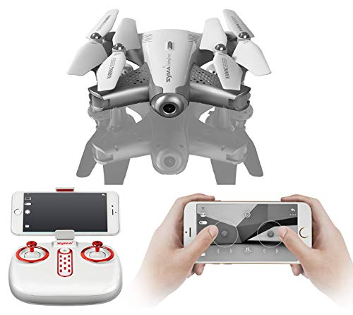 SUPER TOY Syma Z3 HD Wi-Fi Camera Pocket Drone RC Foldable Quadcopter with Headless Mode and Altitude Hold