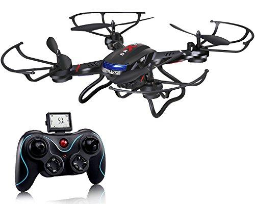 Holy Stone F181 RC Drohne mit HD Kamera rtf Helikopter 4 Channel, 2.4GHz 6-Axis Gyro Stabilization System, rc quadrokopter ferngesteuert mit Kamera, lange Flugzeit, automatische Höhe Halten Funktion, One Key Start/Landung, 360° Looping, Headless-Modus, drone mit kamera und monitor draußen für Anfänger und Kinder ab 10 Jahre, schwarz
