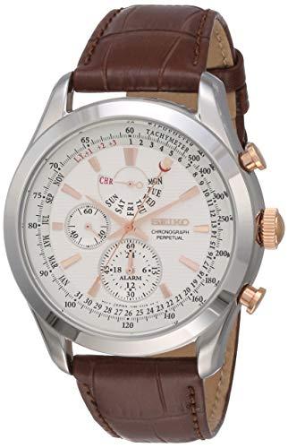Seiko Orologio Cronografo Quarzo Uomo con Cinturino in Pelle SPC129P1