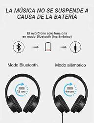 Mpow-H7-Cascos-Bluetooth-InalmbricoAuriculares-Bluetooth-para-Televsion18hrs-de-Reproduccion-de-Msica-Auriculares-Diadema-Cerrados-con-Micrfono