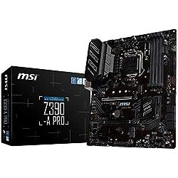 MSI Z390-A PRO LGA1151 (Intel 8th 9th Gen) M.2 USB 3.1 Gen 2 DDR4 HDMI DP CFX Dual Gigabit LAN ATX Z390 Gaming Motherboard
