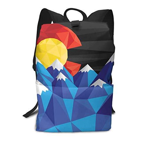 Homebe School Zaino Scuola, Cartella per Laptop,Borsa Viaggio For Adult Boys Girls Kids, Colorado...