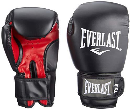 Everlast Rodney 1803 Guanti Boxe da Allenamento Unisex adulto, Nero (Black/ Red), 8 oz