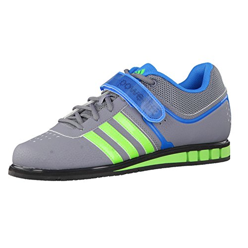 adidas Herren Gewichtheberschuhe Powerlift II grey/green/blue 40