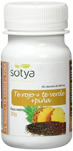 SOTYA - SOTYA Té Verde, Té Rojo y Piña 60 cápsulas 500 mg