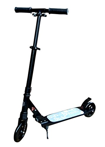 Toyshine Heavy Duty Premium Scooter Runner with Big Wheels and Height Adjustable (Black)