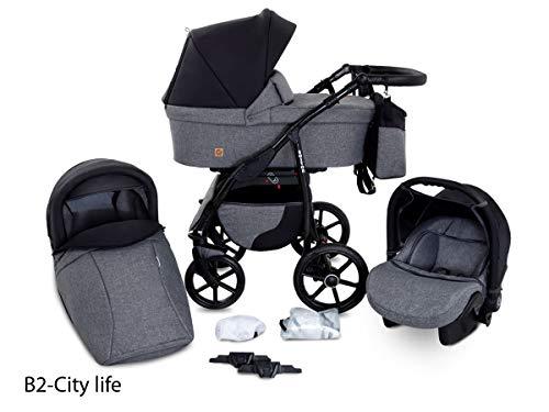 GaGaDumi Boston Passeggino TRIO baby Carrozzina Trio Seggioliono OVETTO AUTO Sistemi modulari (B2-City life)