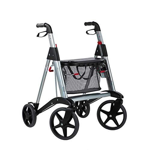 DFKDGL Carrello della Spesa Carrello Pieghevole Rollator Walker per Anziani con sede Shopping...