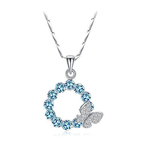 """T400 joyeros """"sueño Chasers"""" Swarovski elementos cristal mariposa colgante collar, regalo día de San Valentín"""