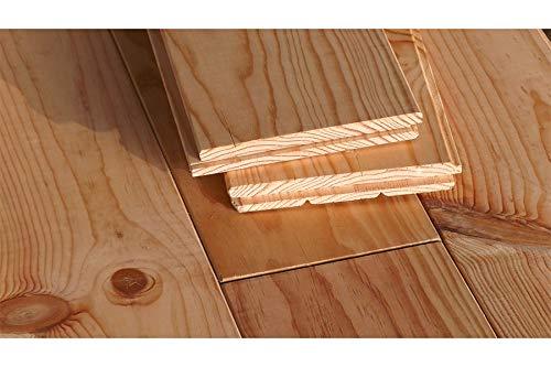 Modello a mano in legno massiccio di pino marino francese, 21 x 146 x 2000 mm, grezzo