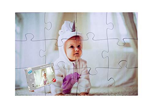 Puzzle Personalizzato con Foto, Foto Puzzle Personalizzato 12 Pezzi XXL, Grandi Pezzi di Puzzle (12...