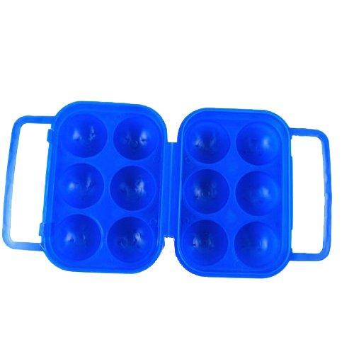 Contenitori In Plastica Pieghevoli.Toogoo R Blu Uova Di Plastica Pieghevoli Portare Il Contenitore Di