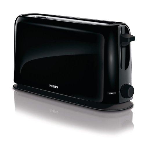 Philips HD2598/90 Grille-Pain Noir 7 Températures Fente Ultra-longue