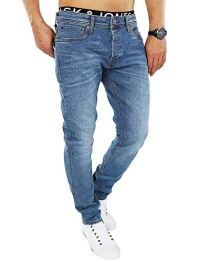 Jack & Jones Herren Slim Fit Jeans Denim Used Look