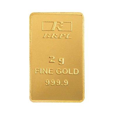 Bangalore Refinery 2 gm, 24k (999.9) Yellow Gold Bar 6