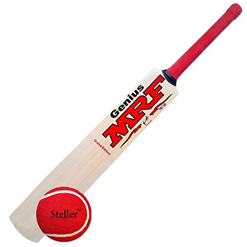 Steller M-F Genius Virat Kohli Popular Willow Cricket Bat with Ball, Full Size with Ball
