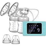 Elektrische Milchpumpe, Wiederaufladbare Doppel-Stillpumpe, Elektrische Brustpumpe für Brustmilchabsaugung und Brustmassage