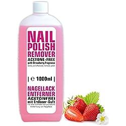 1litro de limpiador de esmalte de uñas sin acetona con aroma de fresa