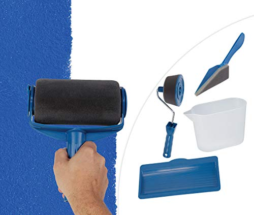 Renovator Paint Runner Pro Kantenroller Eckenstreicher Farbroller wiederbefüllbarer Farbtank das Original von Mediashop
