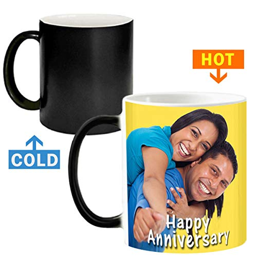 Exciting Lives Color Changing Personalised Photo Magic Mug, 325ml