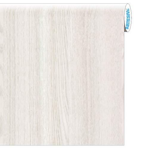 Artesive WD-001 Rovere Bianco Opaco larg. 60 cm AL METRO LINEARE - Pellicola Adesiva in vinile...