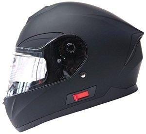 YEMA Motorradhelm Integralhelm Rollerhelm Fullface Helm YM-831 Sturzhelm ECE mit Doppelvisier Sonnenblende für Damen Herren Erwachsene 3