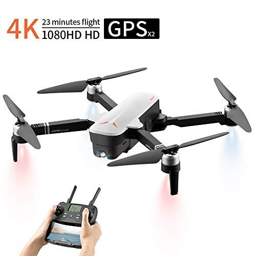 Drone Con Telecamera, Droni Professionali Con Telecamera 4K, Dual GPS Drone FPV 1080P, 120 °...
