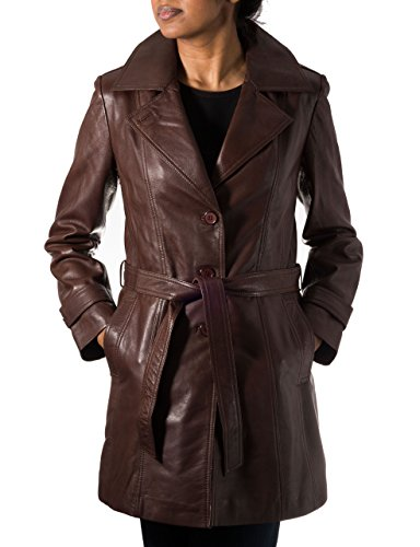 A to Z Leather -  Cappotto  - Impermeabile - Donna Brown 46
