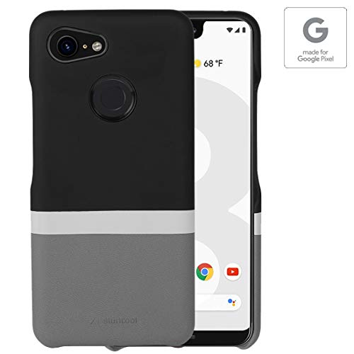 "Stuffcool Joli Dual Tone Elegant PU Leather Back Case Cover for Google Pixel 3 XL (2018) 6.3"" - Black/Grey (Authorized Made for Google Pixel Accessory)"