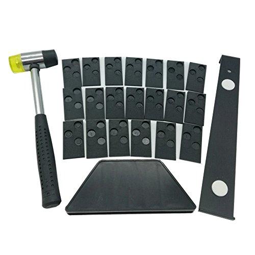 Kit di installazione per pavimenti in laminato di legno con 20 distanziali, 1 blocco in gomma, 1...