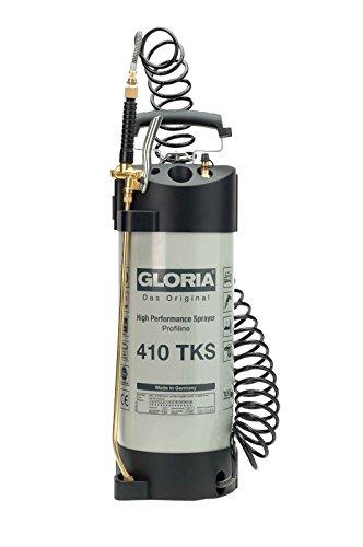 Gloria 410TKSProfi - Pulverizador a presión de alto rendimiento (acero inoxidable, 10 L, resistente al aceite)