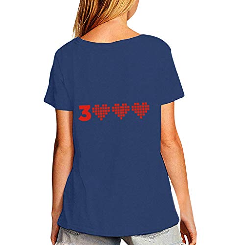 Lazzboy Donna Uomo Unisex Plus Size Coppia di Usura T-Shirt Top I Love You 3000 Volte per la Marvel...