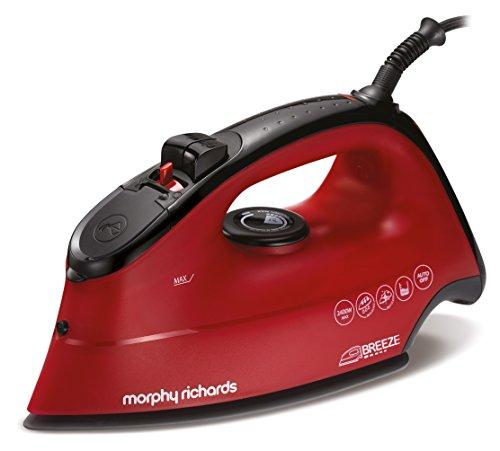 Morphy Richards 300259 Ferro da stiro a secco e a vapore Ceramica 2400W Rosso ferro da stiro