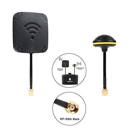 MakerStack 5.8G 7dBi Antenna a Fungo e Antenna a Pannello 14dBi Elevata Guadagno FPV Antenna Kit...